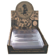 Lead Dog 4 Pocket Currency Pages 100ct - 3 Ring Binder