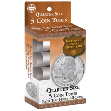HE Harris Quarter Size Coin Tubes - 5 Pack