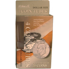 HE Harris Dollar Size Coin Tubes - 4 Pack