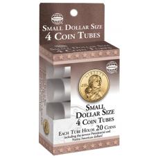 HE Harris Small Dollar Size Coin Tubes -20ct- 4 Pack