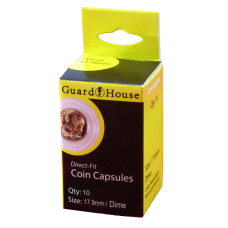 Guardhouse Round Coin Capsules - Dime Direct fit 10ct Pack