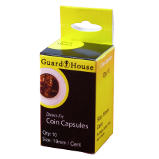 Guardhouse Round Coin Capsules - Cent Direct fit 10ct Pack