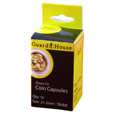 Guardhouse Round Coin Capsules - Nickel Direct fit 10ct Pack