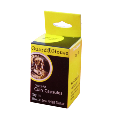 Guardhouse Round Coin Capsules -Half Dollar Direct fit 10ct Pack