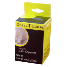 Guardhouse Round Coin Capsules -Large Dollar Direct fit 10ct