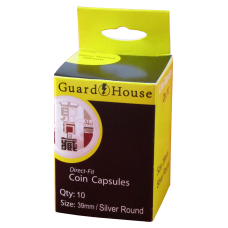 Guardhouse Round Coin Capsules - Silver Rounds 39mm 10ct Pack