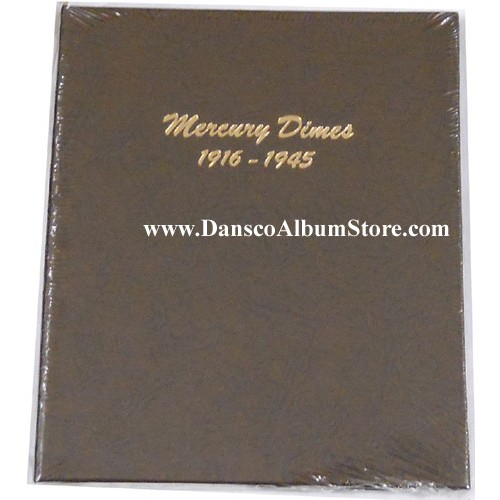 NEW!!! Dansco Coin Album # 7123 for United States Mercury Dimes From 1916-1945