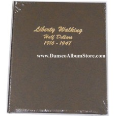 Liberty Walking Half Dollars 1916-1947 Dansco Album #7160