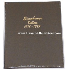 Eisenhower Dollars 1971-1978 BU Only Dansco Album #7176