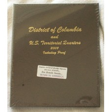 US Territorial & DC Quarters 2009 w/Proof Dansco Album #8145