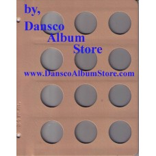 Dansco Blank Millimeter Pages - 34mm Page