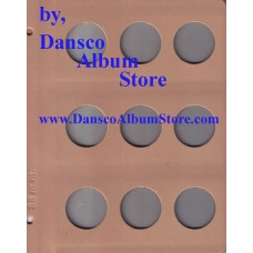 Dansco Blank Millimeter Pages - 38mm Page