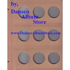 Dansco Blank Millimeter Pages - 40mm Page