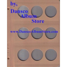 Dansco Blank Millimeter Pages - 41mm Page