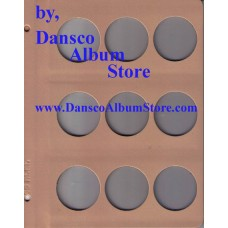 Dansco Blank Millimeter Pages - 45mm Page