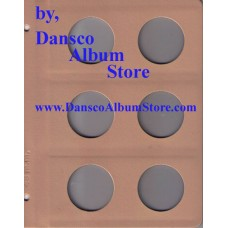 Dansco Blank Millimeter Pages - 48mm Page